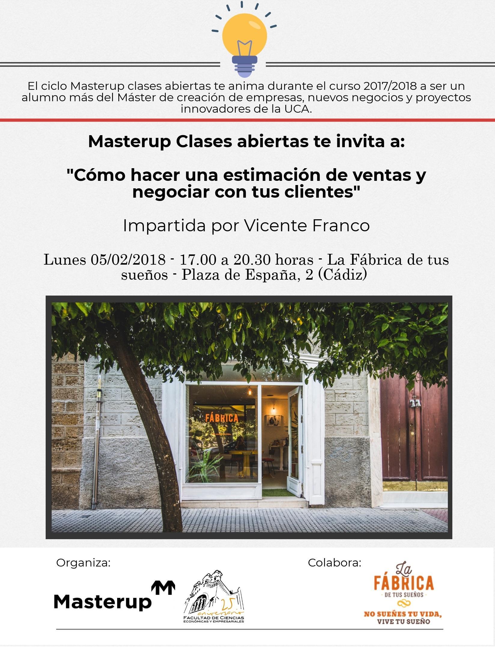 Sesión de Ventas en el Máster Up de la Universidad de Cadiz